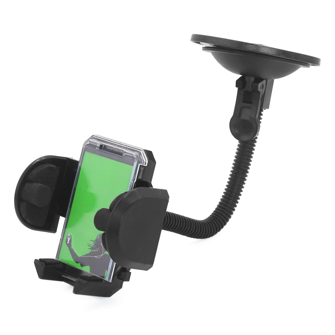 Universal Windshield Mount Cell Mobile Phone GPS Holder Bracket Black