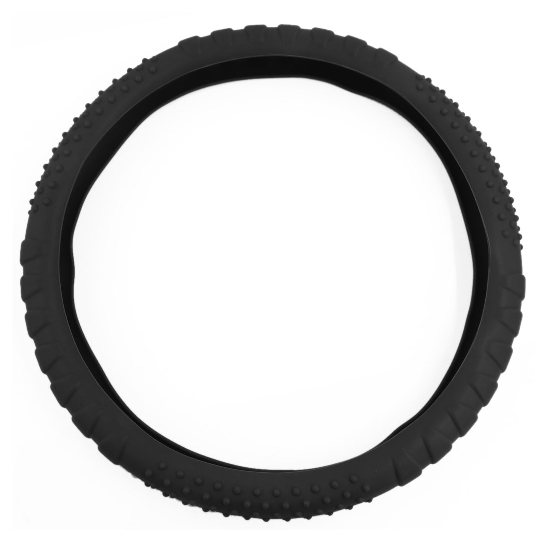 Universal Car Skidproof Odorless Soft Silicon Steering Wheel Cover Shell Black