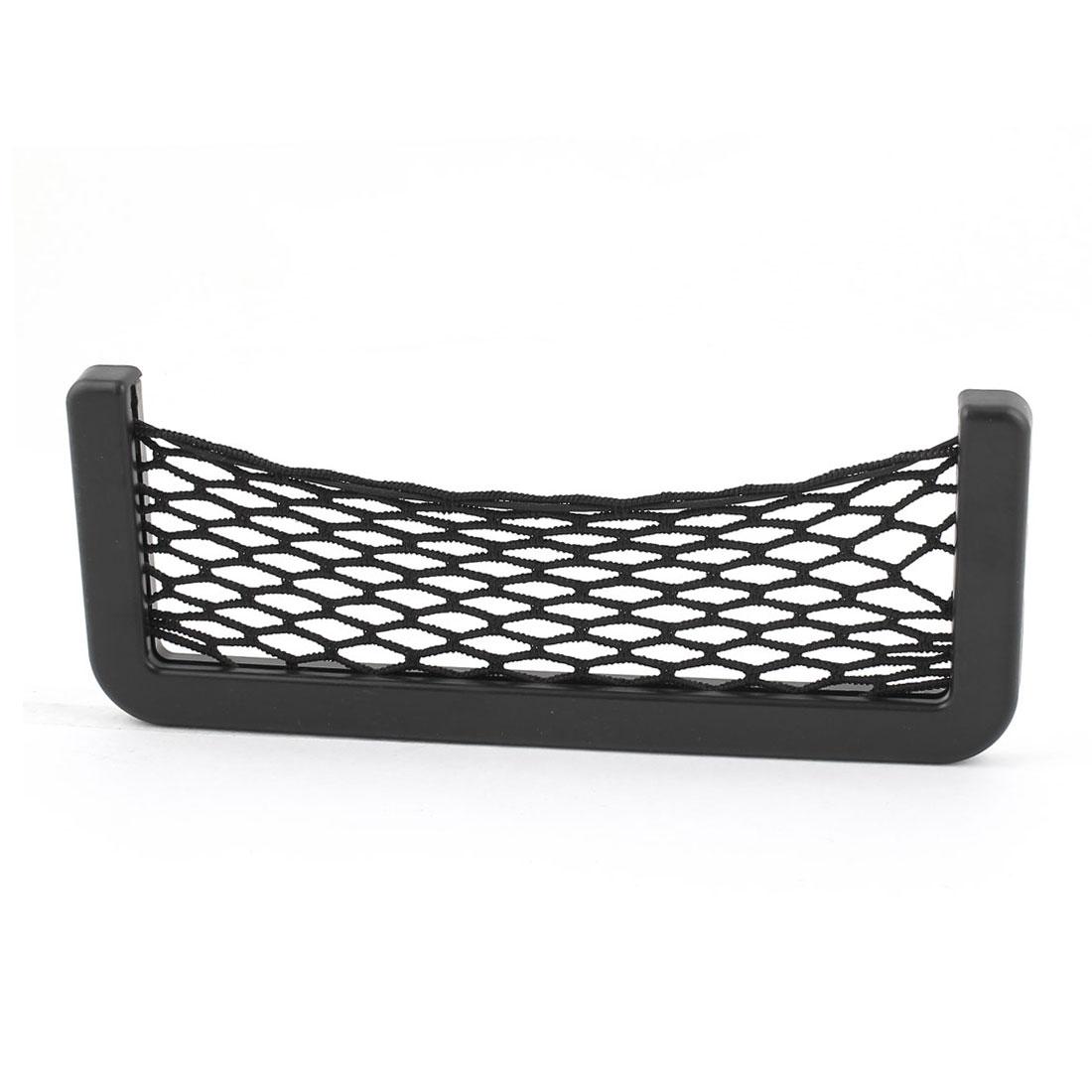 Black Auto Car Storage Mesh Resilient String Bag Nylon Pocket Holder Organizer