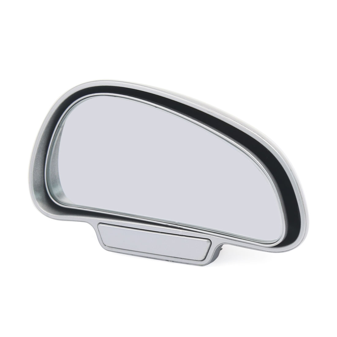Car Truck Self Adhesive Adjustable Rear Side Blind Spot Mirror Sliver Tone