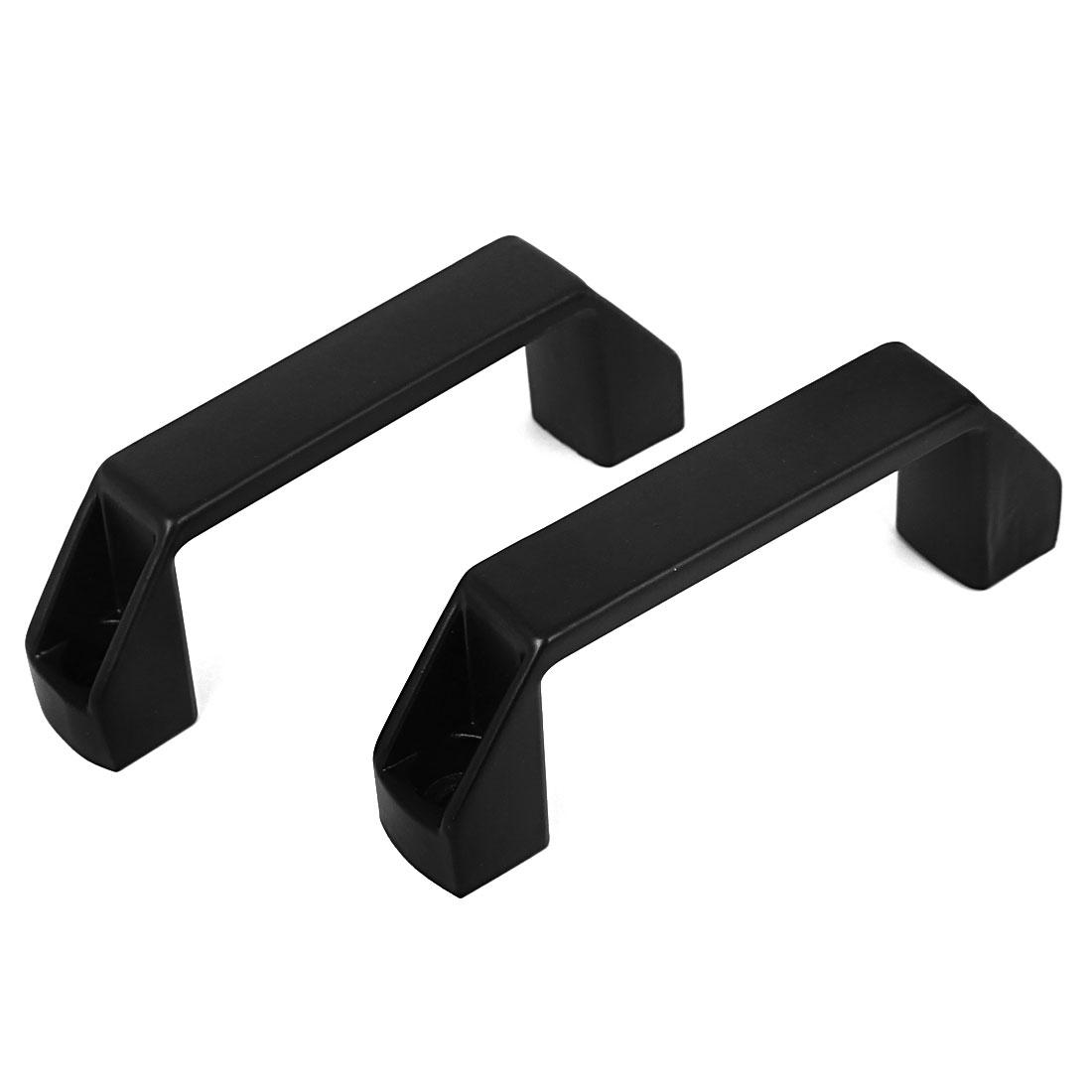 "2pcs 4.2"" Long Rectangle Zinc Alloy Pull Handle Knob Black for Cabinet Cupboard"