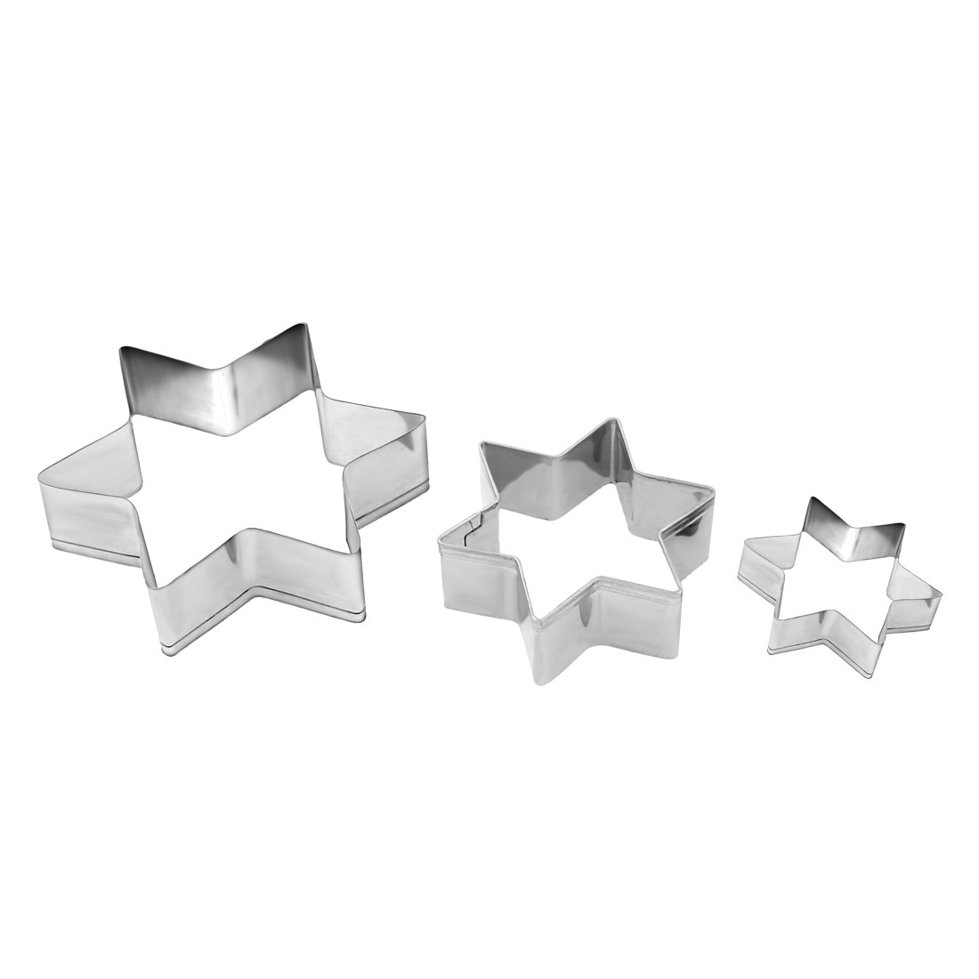 Kitchen Cookie Stainless Steel Star Shaped Multi-size Mold Cutter 3 in 1