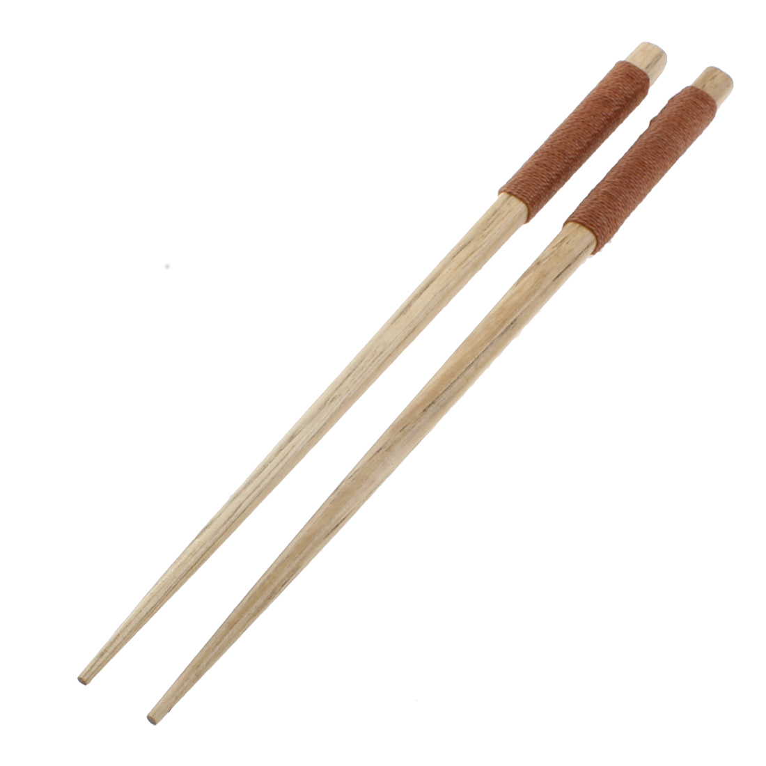 Home Kitchen Tableware Twine Nonslip Handle Wooden Chopsticks 20cm Length Pair