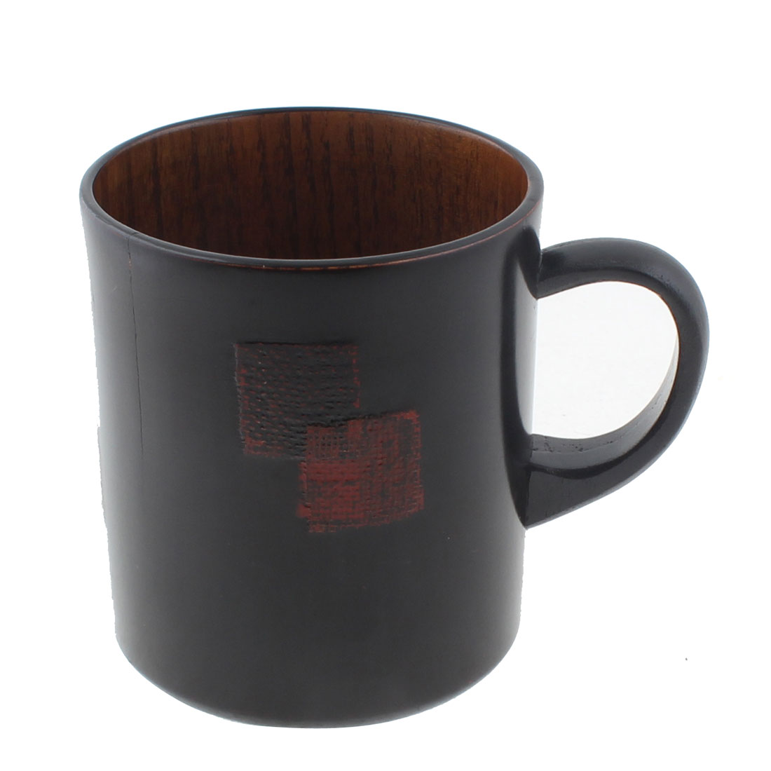 Home Office Coffee Tea Wine Water Wooden Drinking Cup Mug Balck 260ml