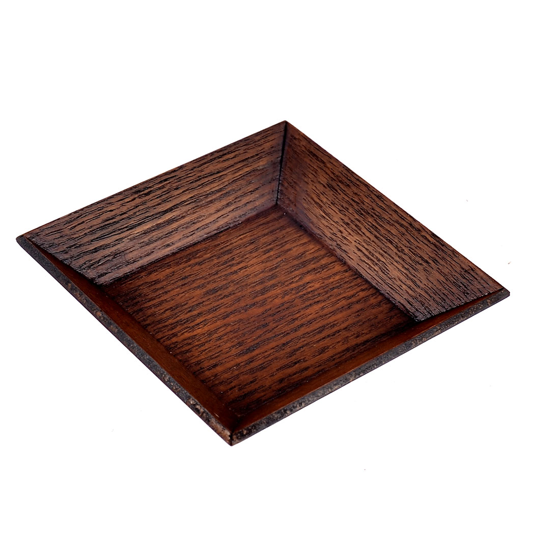 Kitchen Wood Square Shaped Appetizer Pickle Dish Plate Container Brown