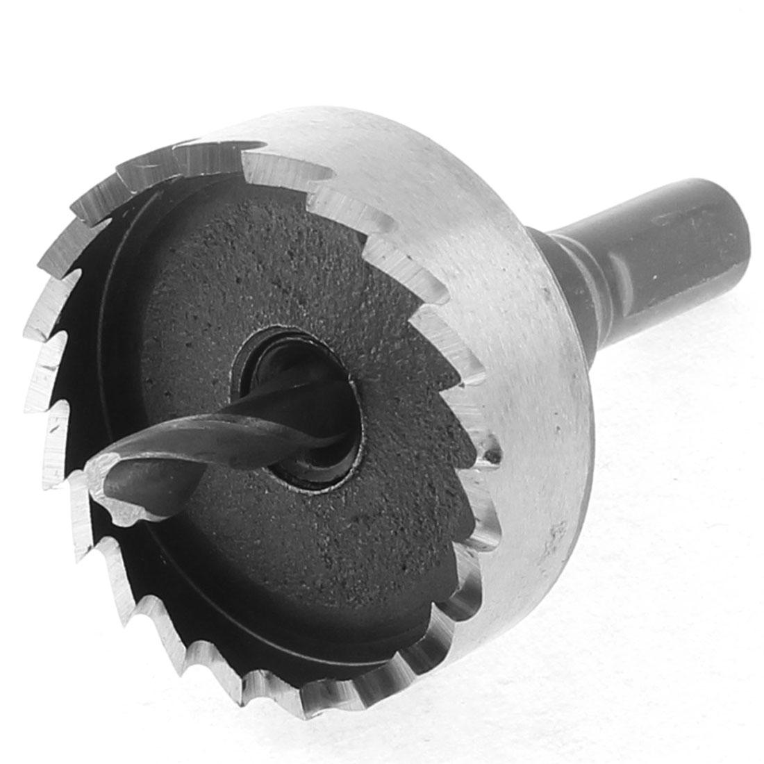 40mm Cutting Dia 10mm Triangle Shank Twist Drill Bit Iron Cutter Hole Saw
