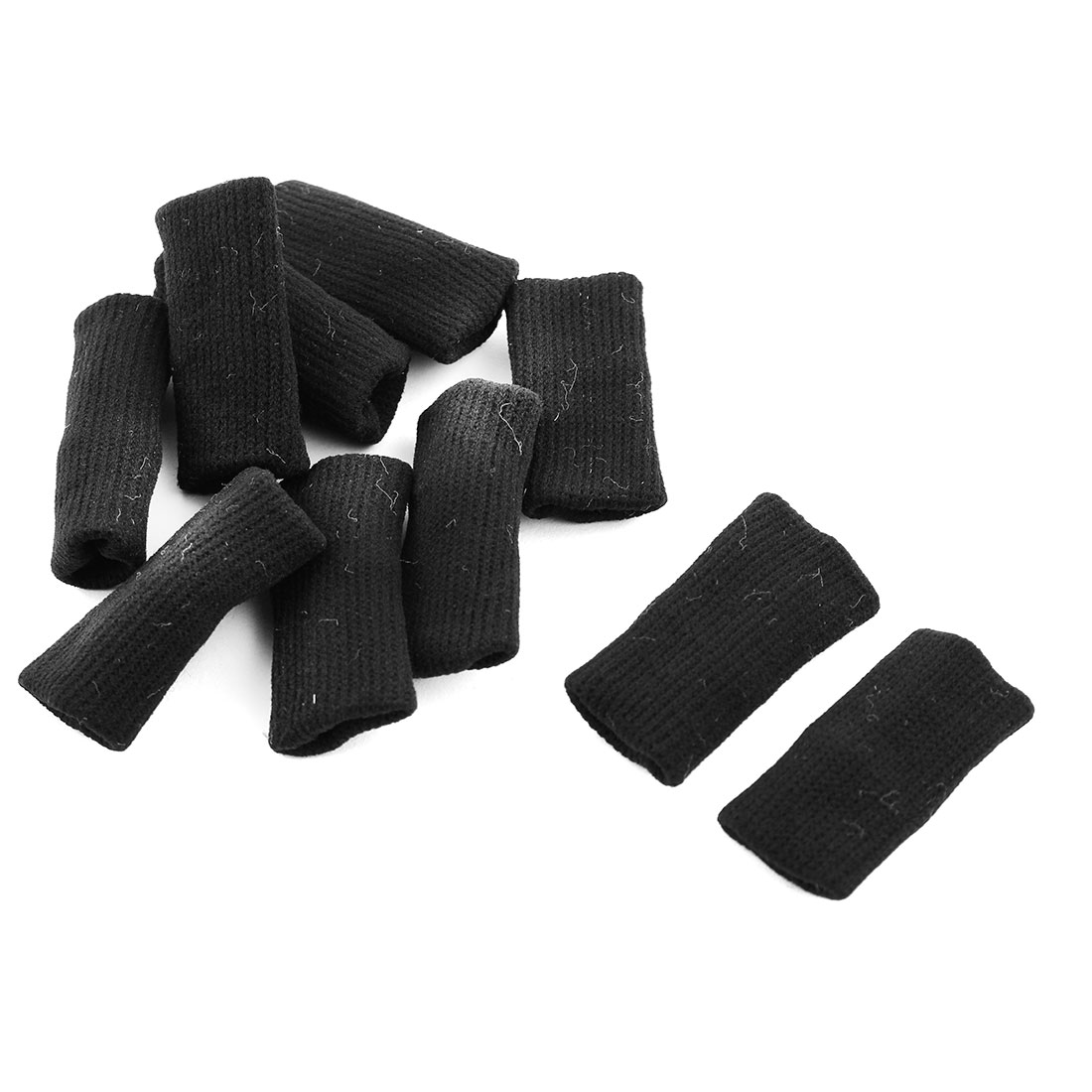 Sport Volleyball Stretchy Finger Brace Protector Sleeve Guard Support Black 10pcs