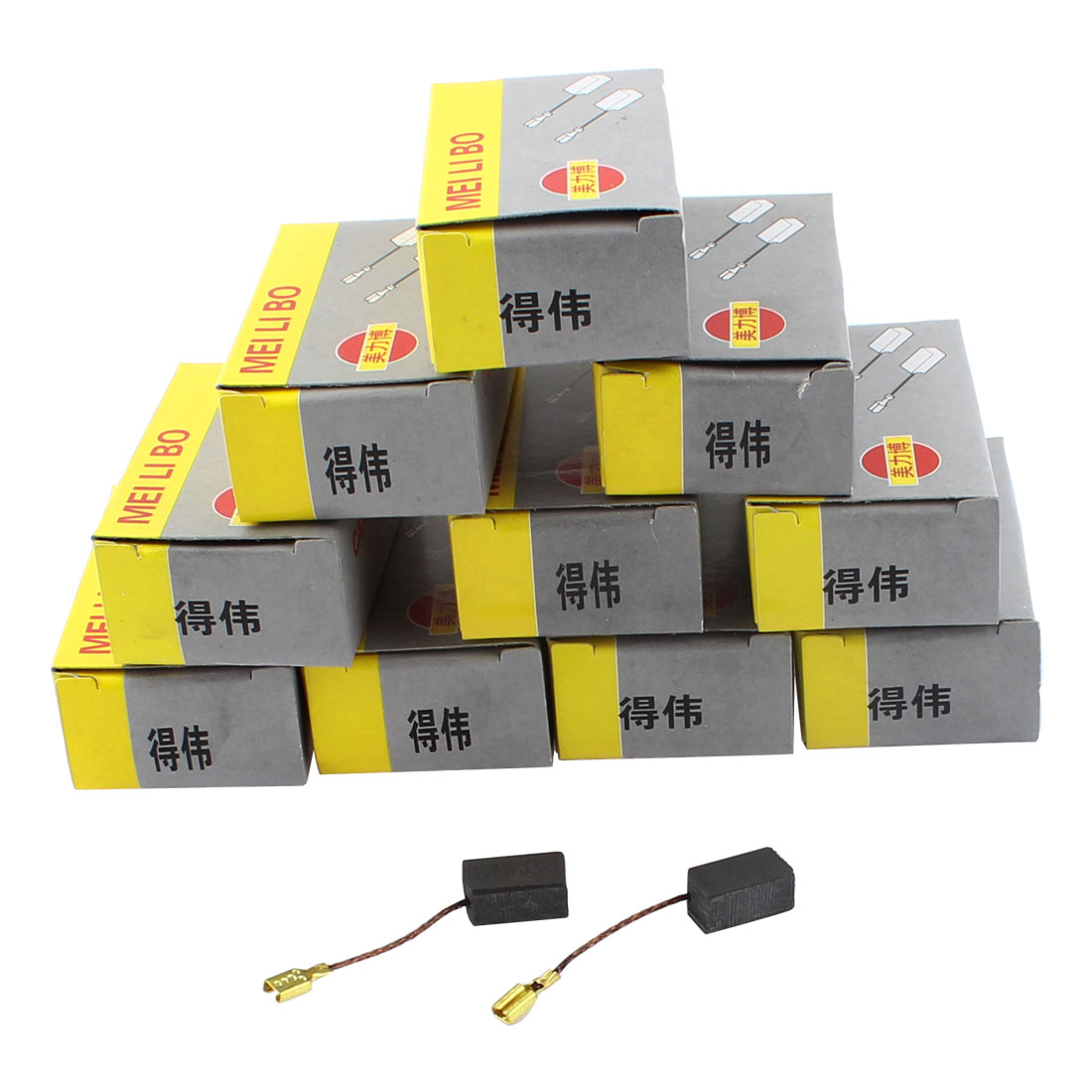 14mm x 8mm x 6mm Replacement Electric Motor Power Tool Carbon Brushes 10 Pairs