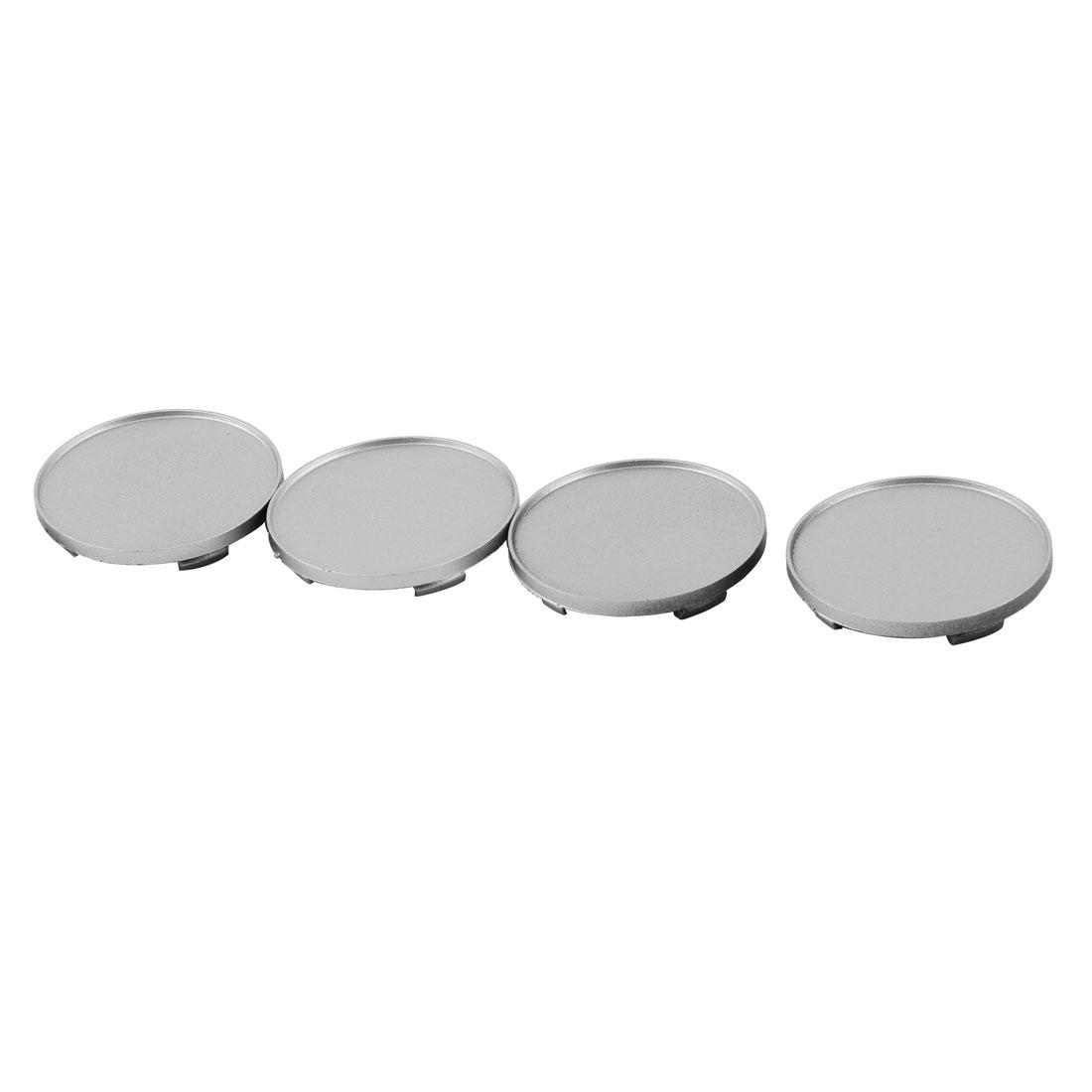62mm Diameter Plastic Car Auto Wheel Center Hub Cap Cover Silver Tone 4pcs