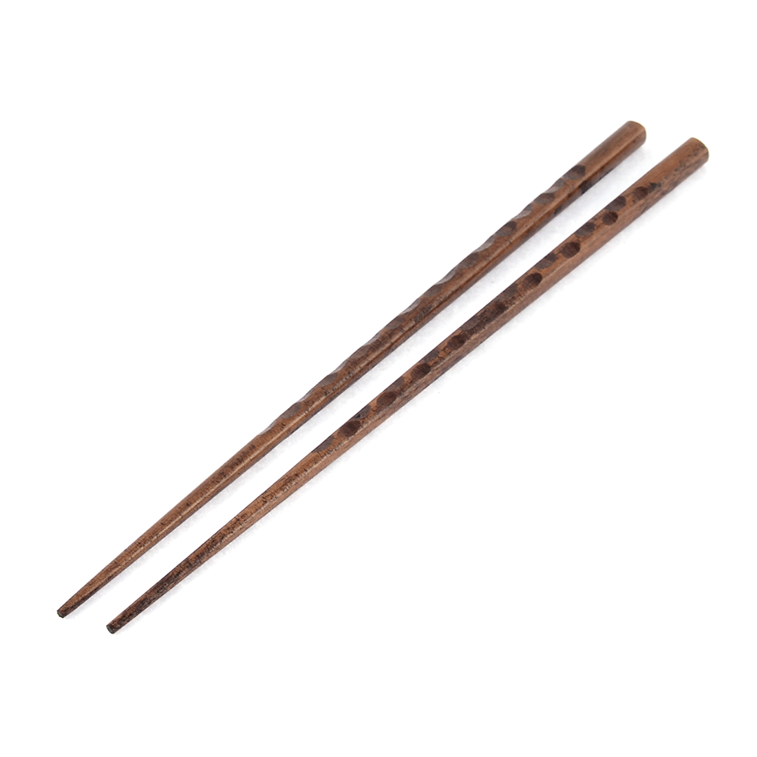 Kitchen Resterant Dining Chinese Food Wooden Non-slip Chopsticks Brown Pair