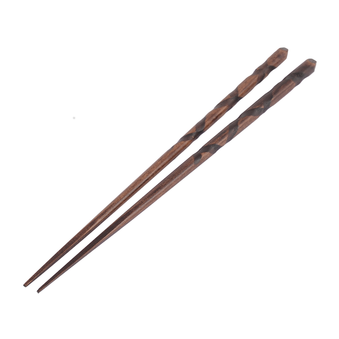 Home Kitchen Tableware Chinese Food Noodle Wooden Chopsticks Pair Brown
