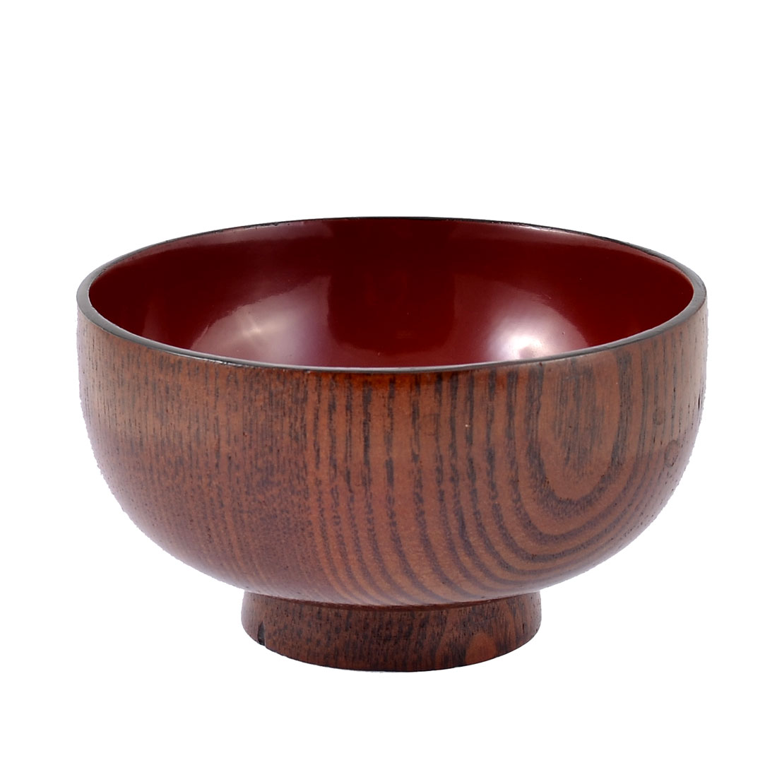 Kitchen Dinnerware Salad Rice Miso Soup Cereal Japanese Style Wooden Bowl