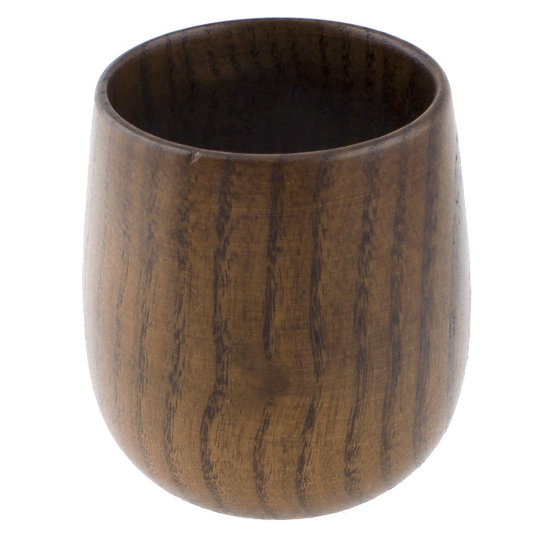 Tableware Milk Coffee Tea Wine Water Wooden Drinking Cup Mug Brown 130ml