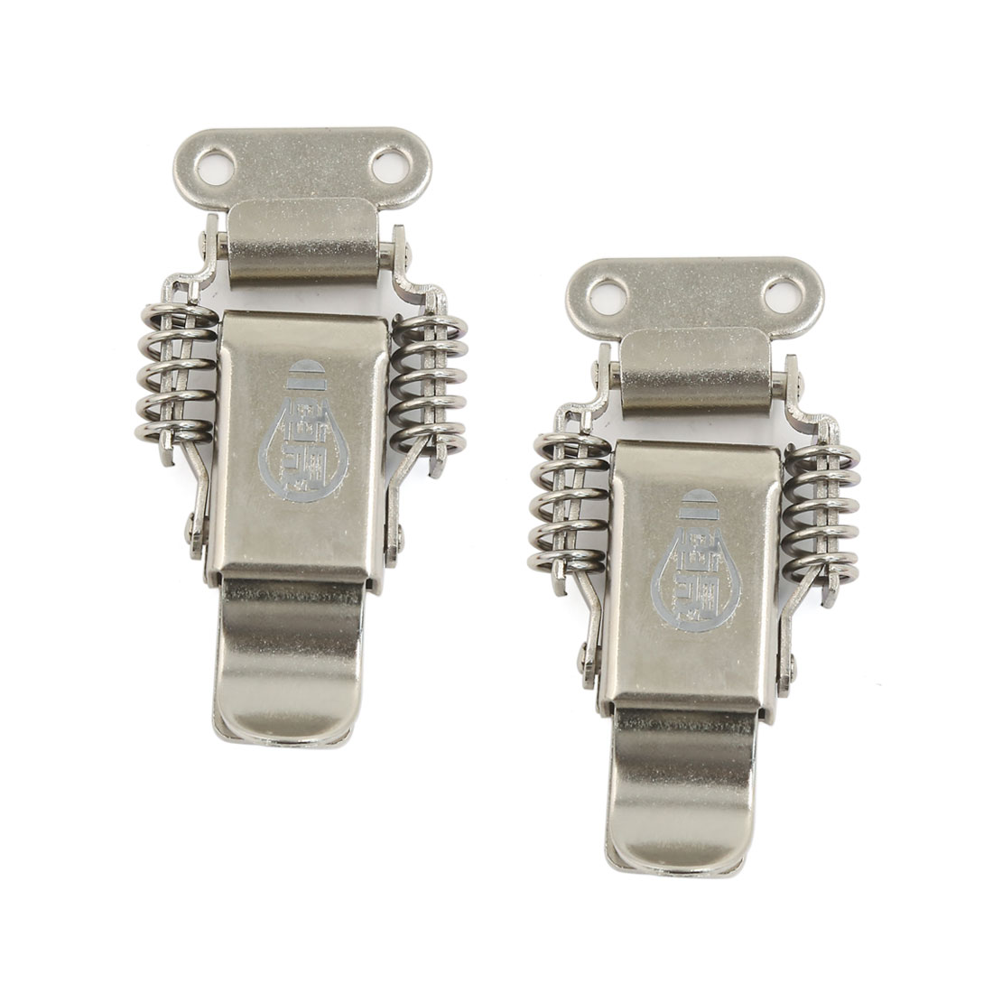 2 Pcs Sliver Tone Stainless Steel Cabinet Boxes Spring Loaded Draw Toggle Latch