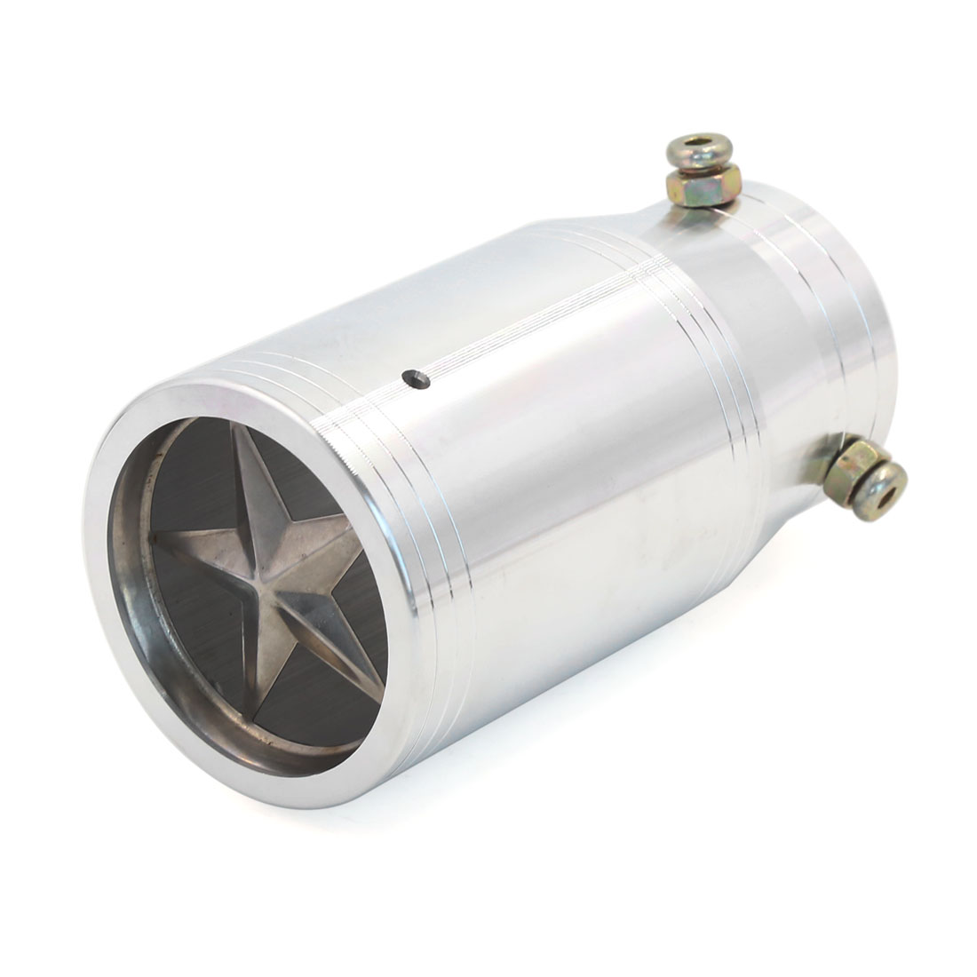 Universal 60mm Inlet Star Decor Style Outlet Car Rear Exhaust Pipe Muffler Tip