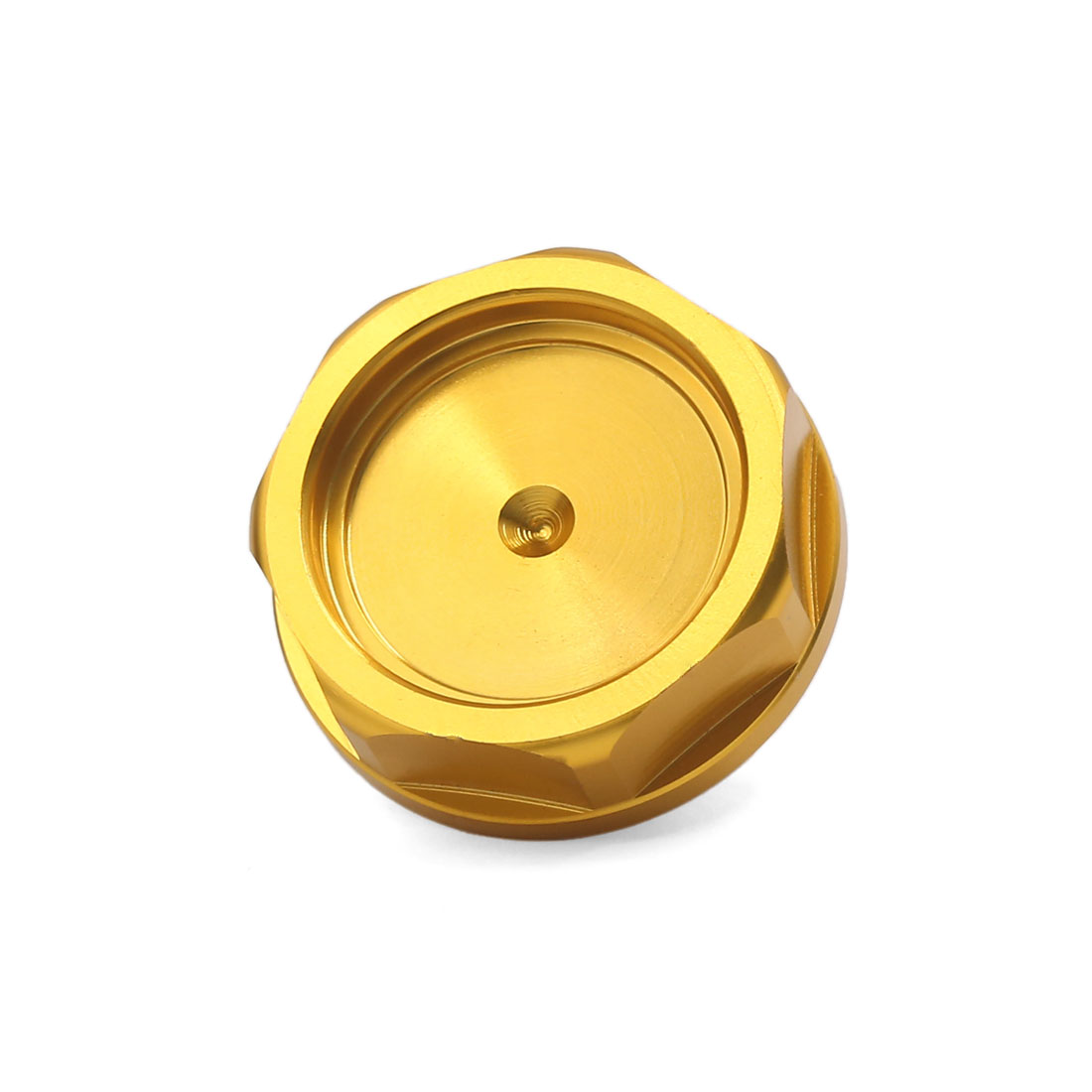 32mm Thread Dia Aluminum Alloy Car Engine Gas Tank Cap Fuel Cover Gold Tone