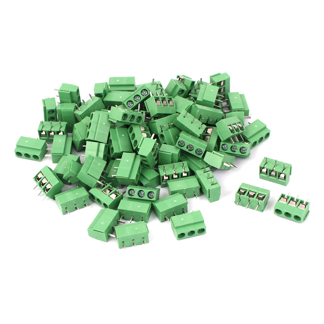 80Pcs 5.08mm Pitch 3 way Straight Terminal PCB Screw Terminal Block Connector