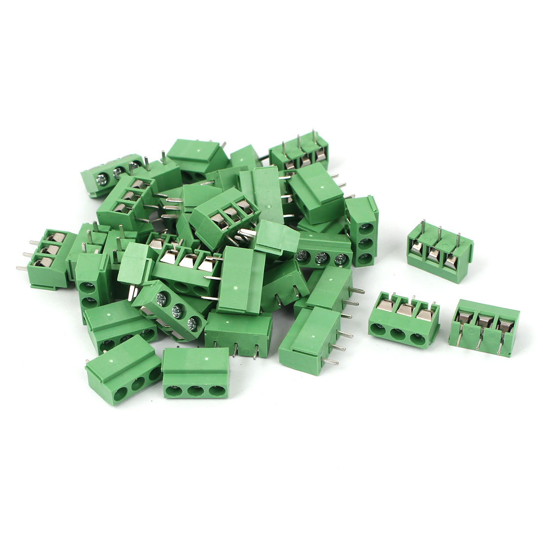 40Pcs 5.08mm Pitch 3 way Straight Terminal PCB Screw Terminal Block Connector