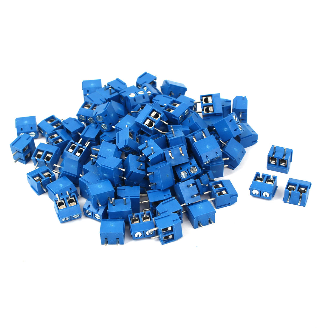 90Pcs 2 Way 2P PCB Mount Screw Terminal Block Connector 5mm Pitch