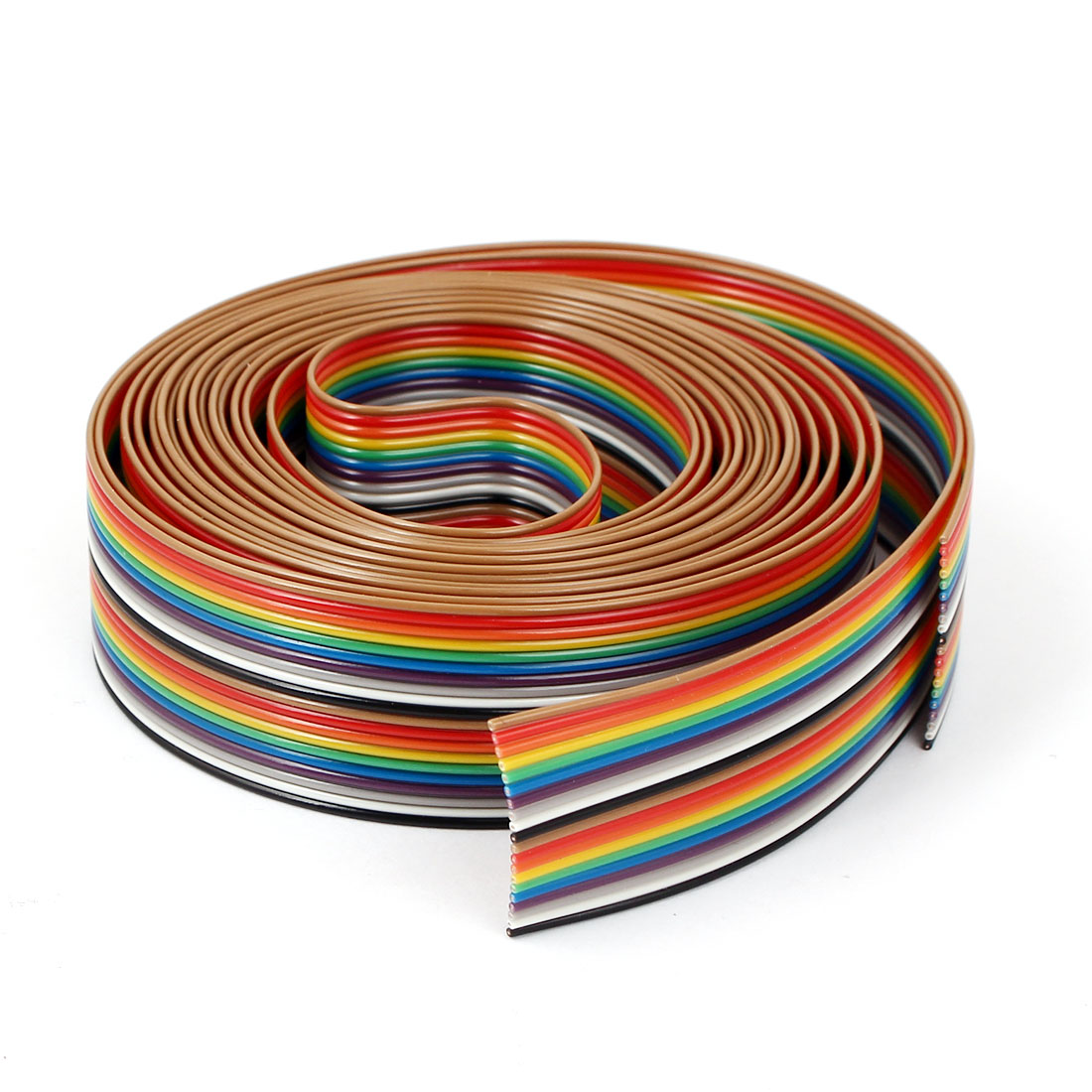 3 Meter 9.8ft 16 Way 16 pin Flat Color Rainbow Ribbon IDC Cable Wire Rainbow Cable