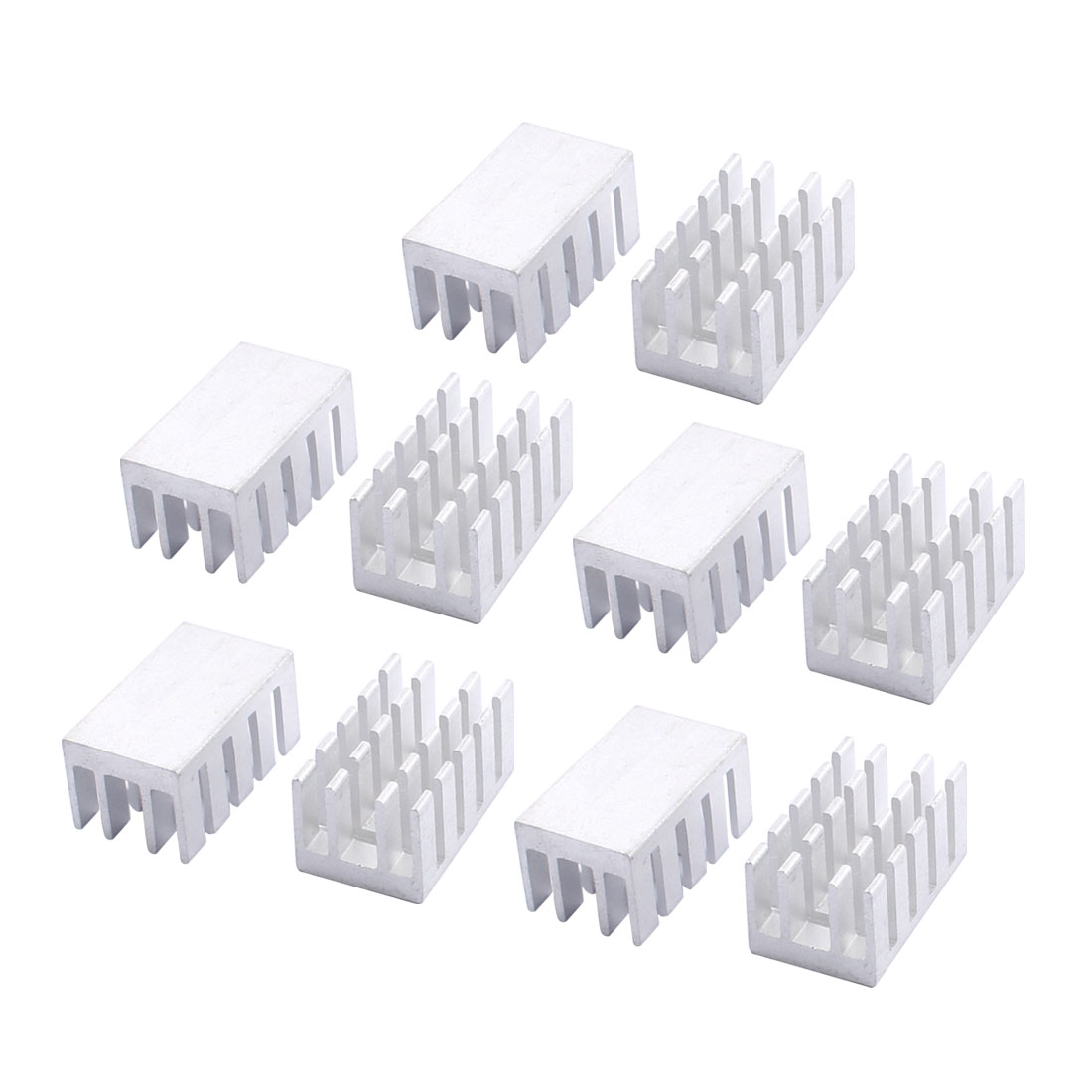 10pcs 22x13x11mm Aluminium Heat Sink Radiator Fin Heatsink Silver Tone