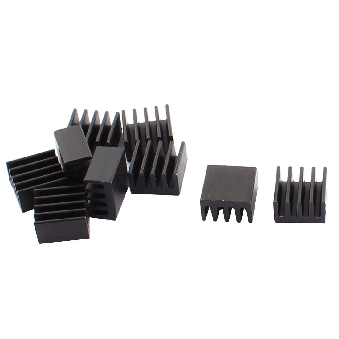 10pcs Aluminium 8.8x8.8x5mm Heatsink Heat Sink Diffuse Cooling Cooler Fin Black