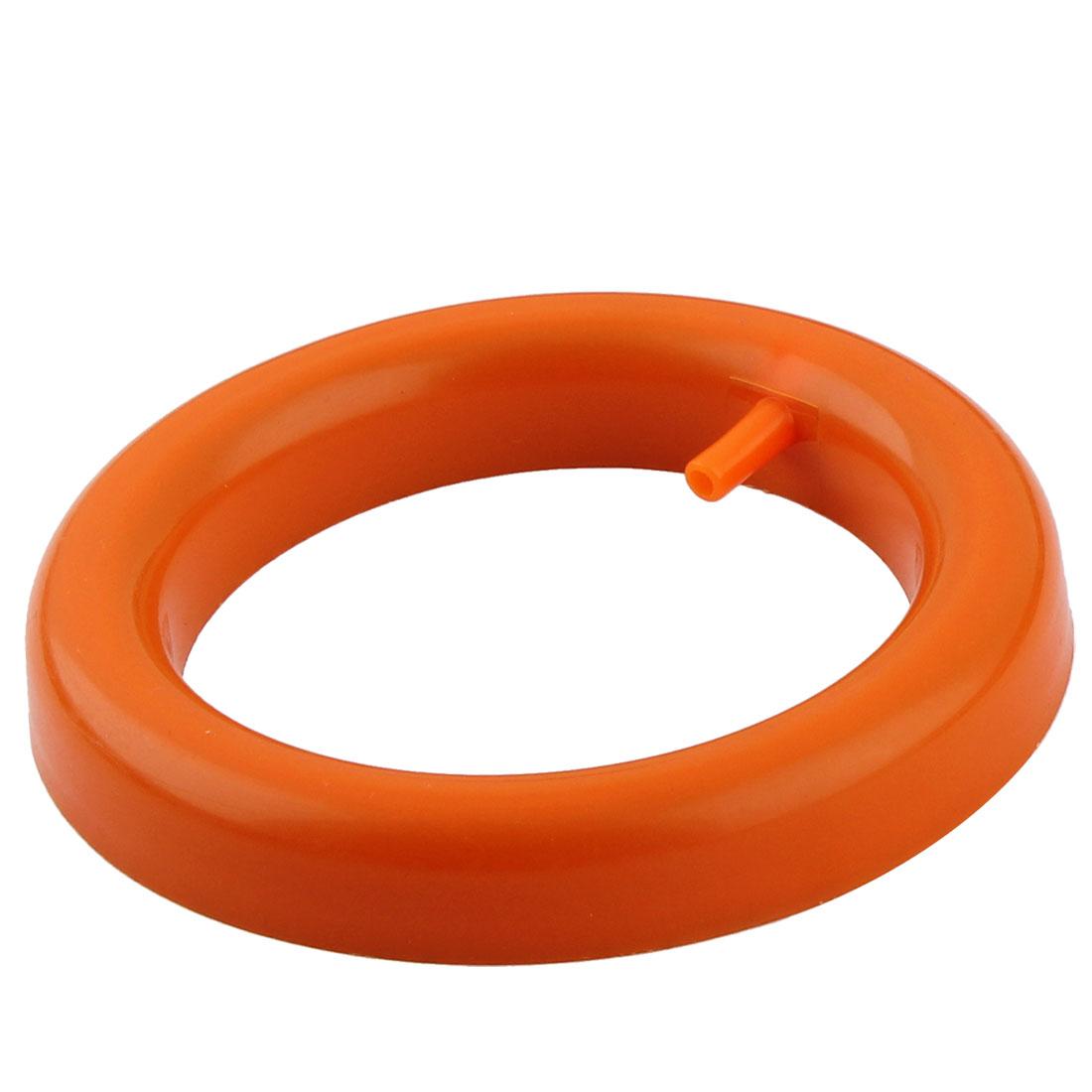 """Plastic Casing Aquarium Fish Tank Round Air Pump Ring Stone Orange 4"""" Diameter"""