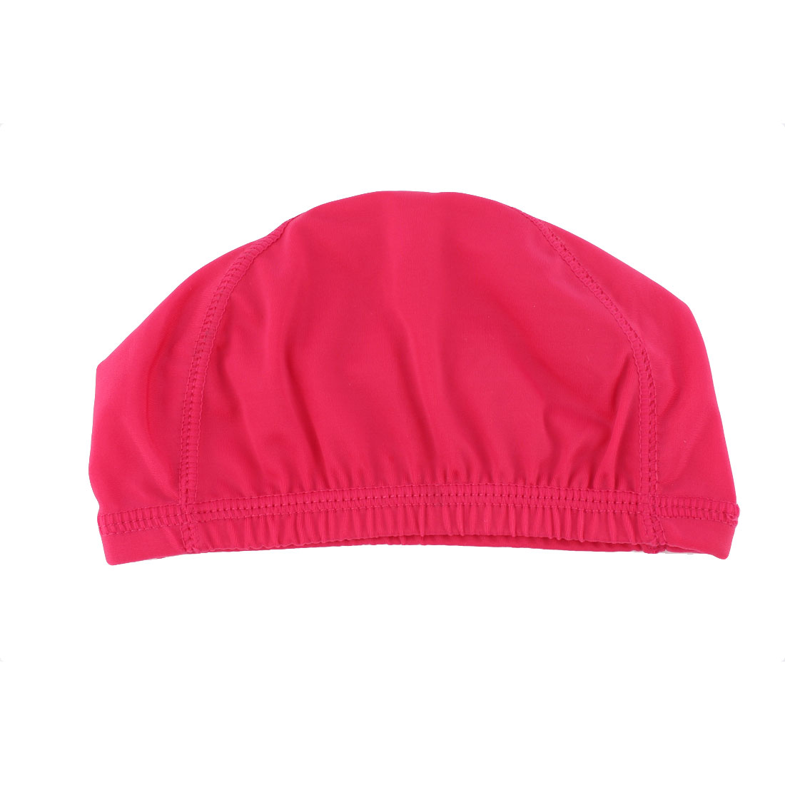 Women Ladies Stretchy Summer Water Sport Swim Bathing Swimming Hat Cap Fuchsia