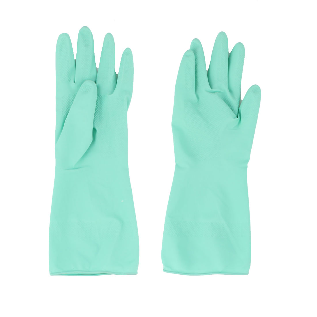 Garden Kitchen Dish Cleaning Washing Laundry Water Resistant Gloves Green Pair
