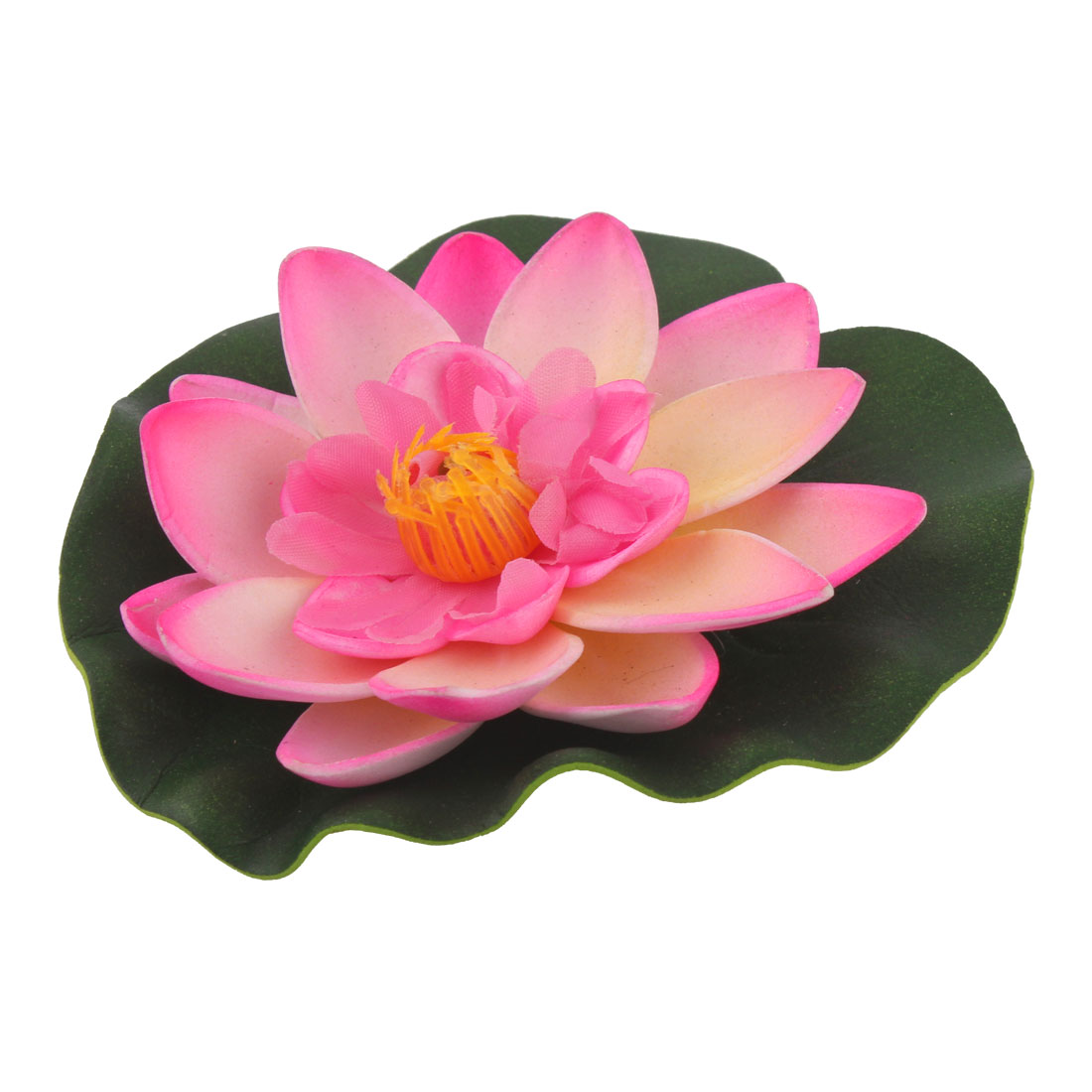 Aquarium Fish Tank Pond Artificial Floating Lotus Flower Decor Ornament Pink