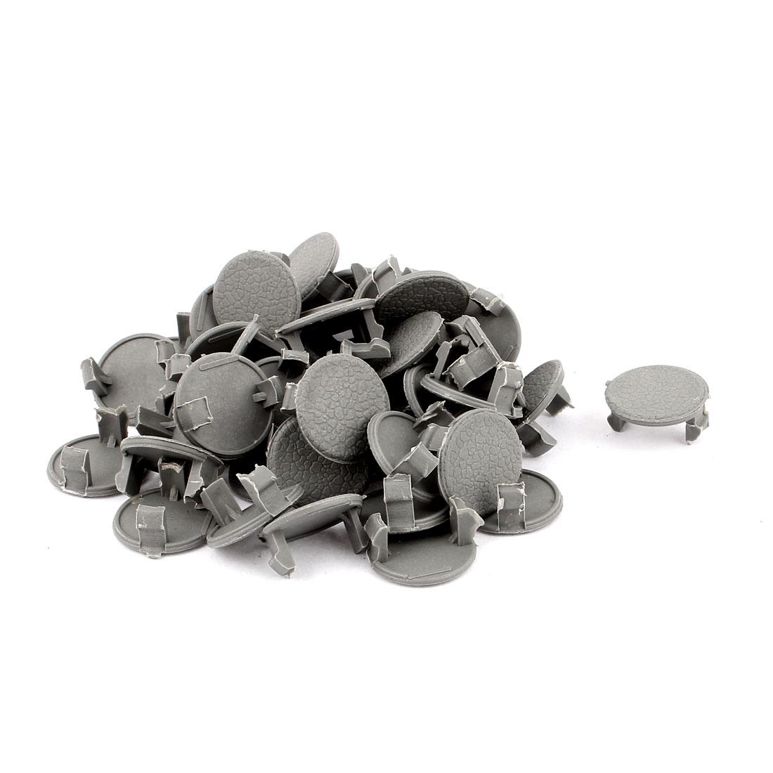 Plastic Rivets Auto Car Fastener Clips 22mm Head Diameter Gray 50 Pcs