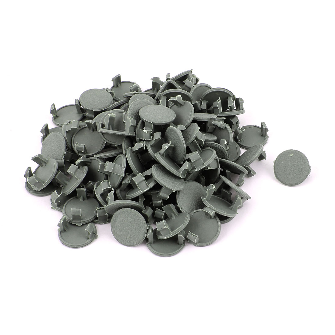 Plastic Rivets Auto Car Fastener Clips 22mm Head Diameter Gray 100 Pcs