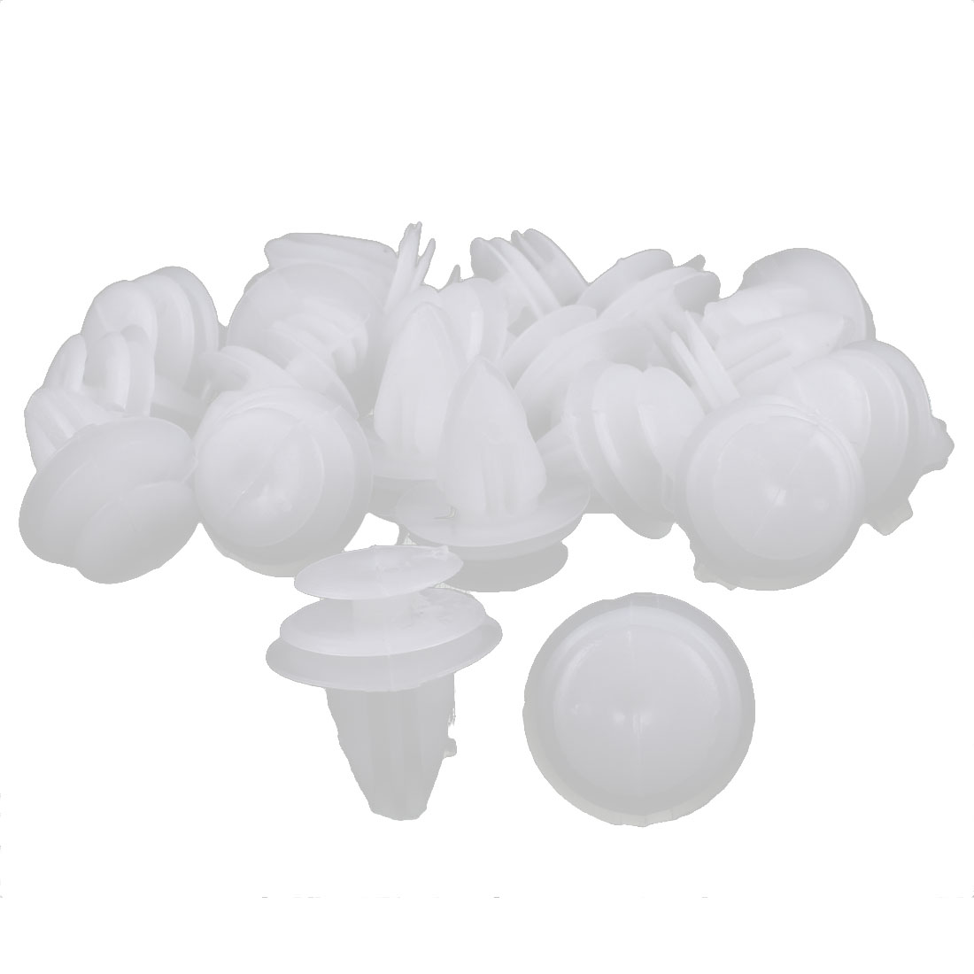20 Pcs White Plastic Rivets Trim Fastener Moulding Clips 14mm x 18mm x 22mm