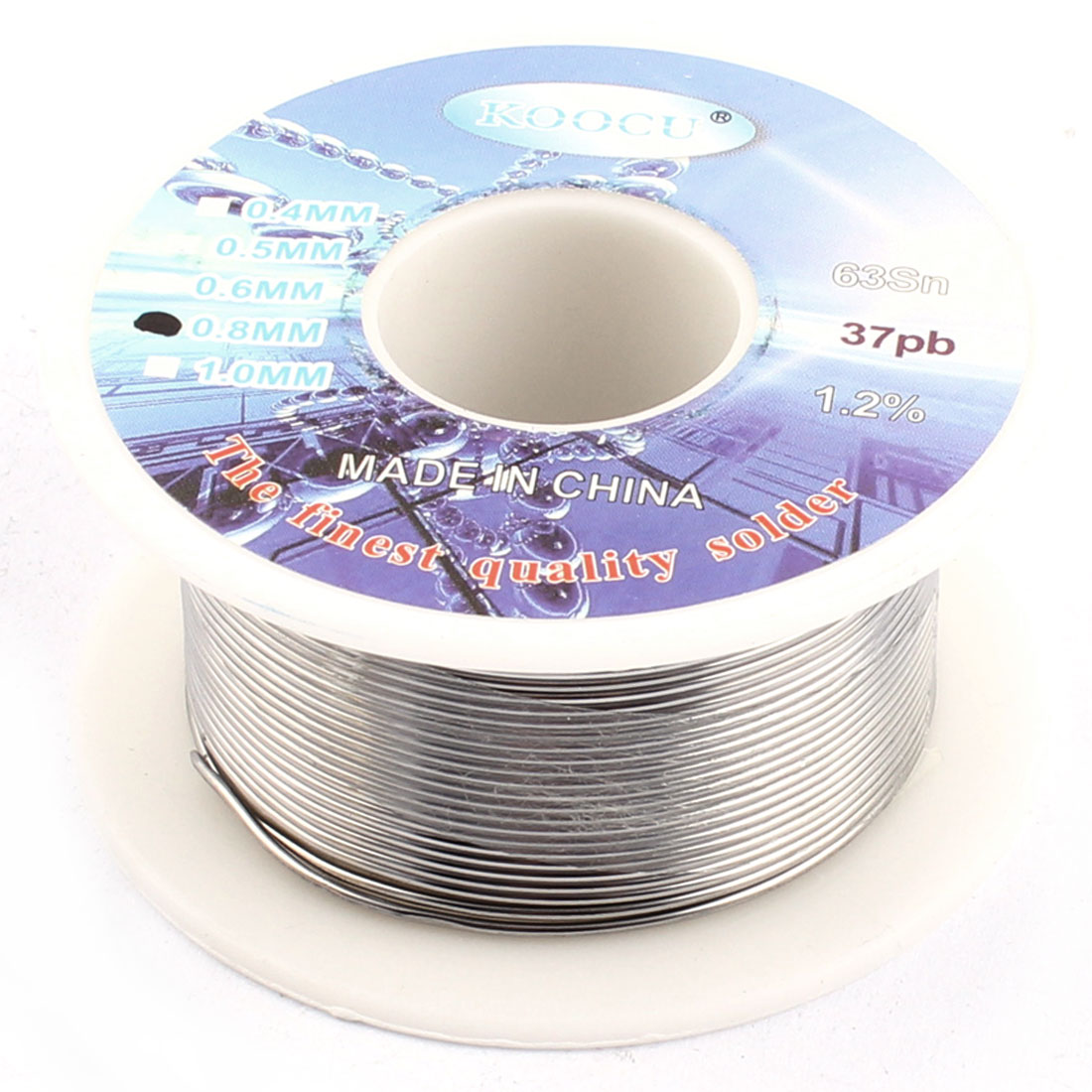 0.8mm Dia 63/37 Tin Lead Welding Soldering Solder Wire Rosin Core Reel