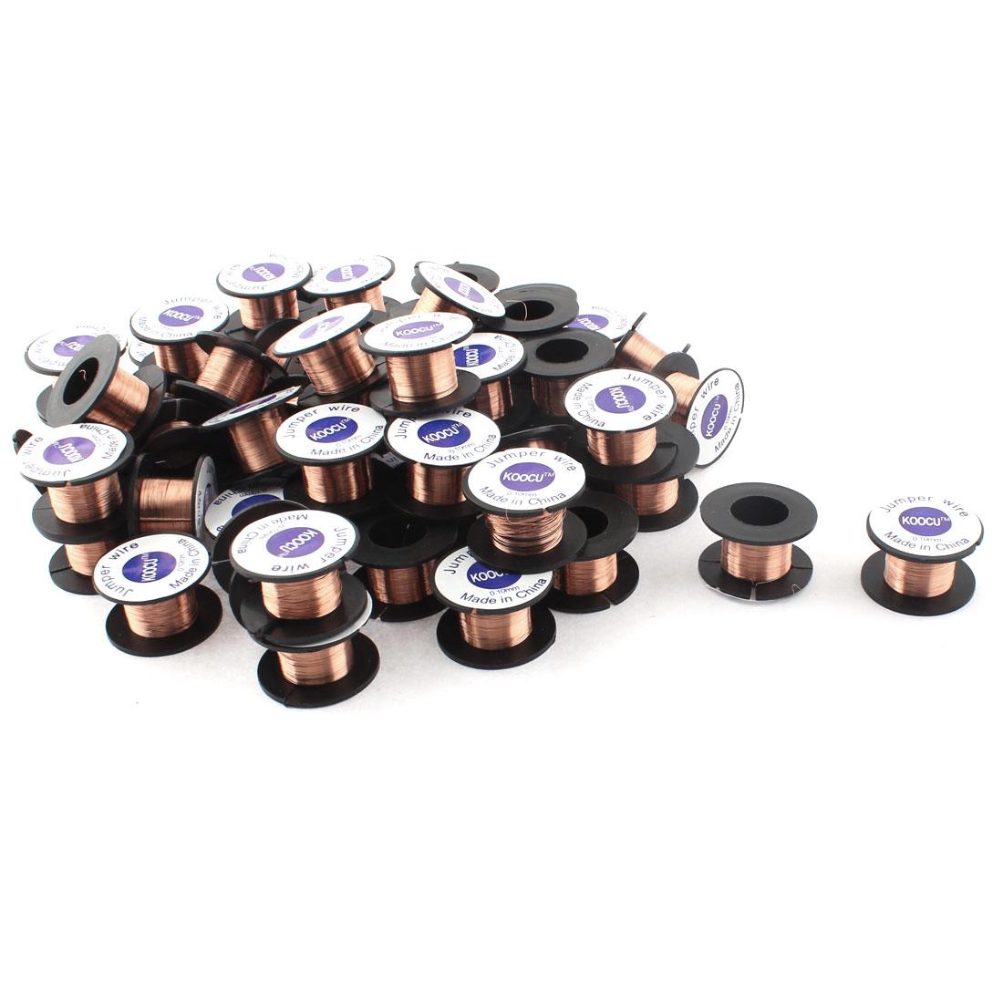 0.1mm Dia Jewelery Scrap Repair Enamelled Soldering Solder Wire Reel 60pcs