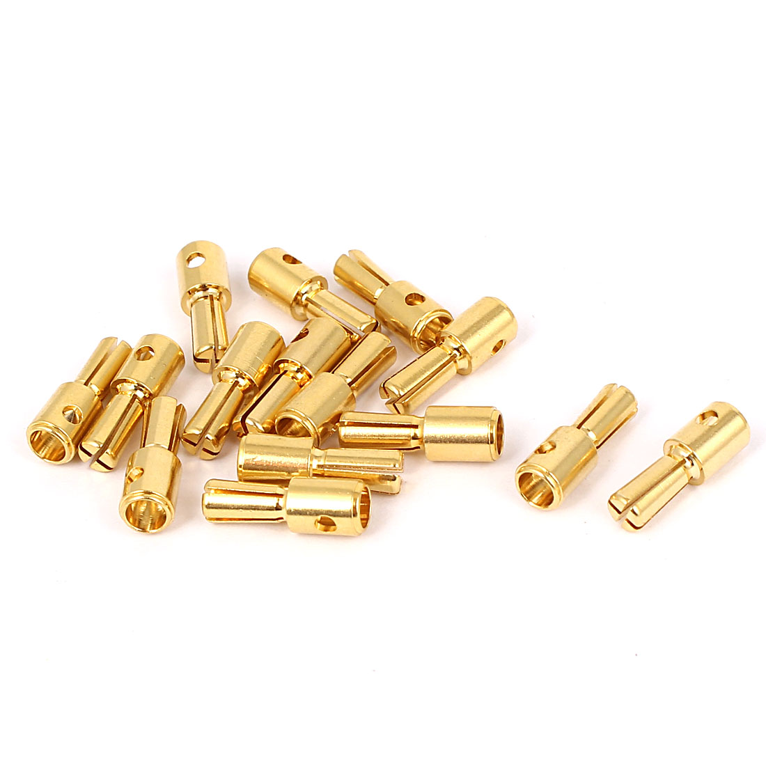 15pcs 4mm Gold Tone Metal Cross Head Banana Male Connector Adapter for RC Model Battery