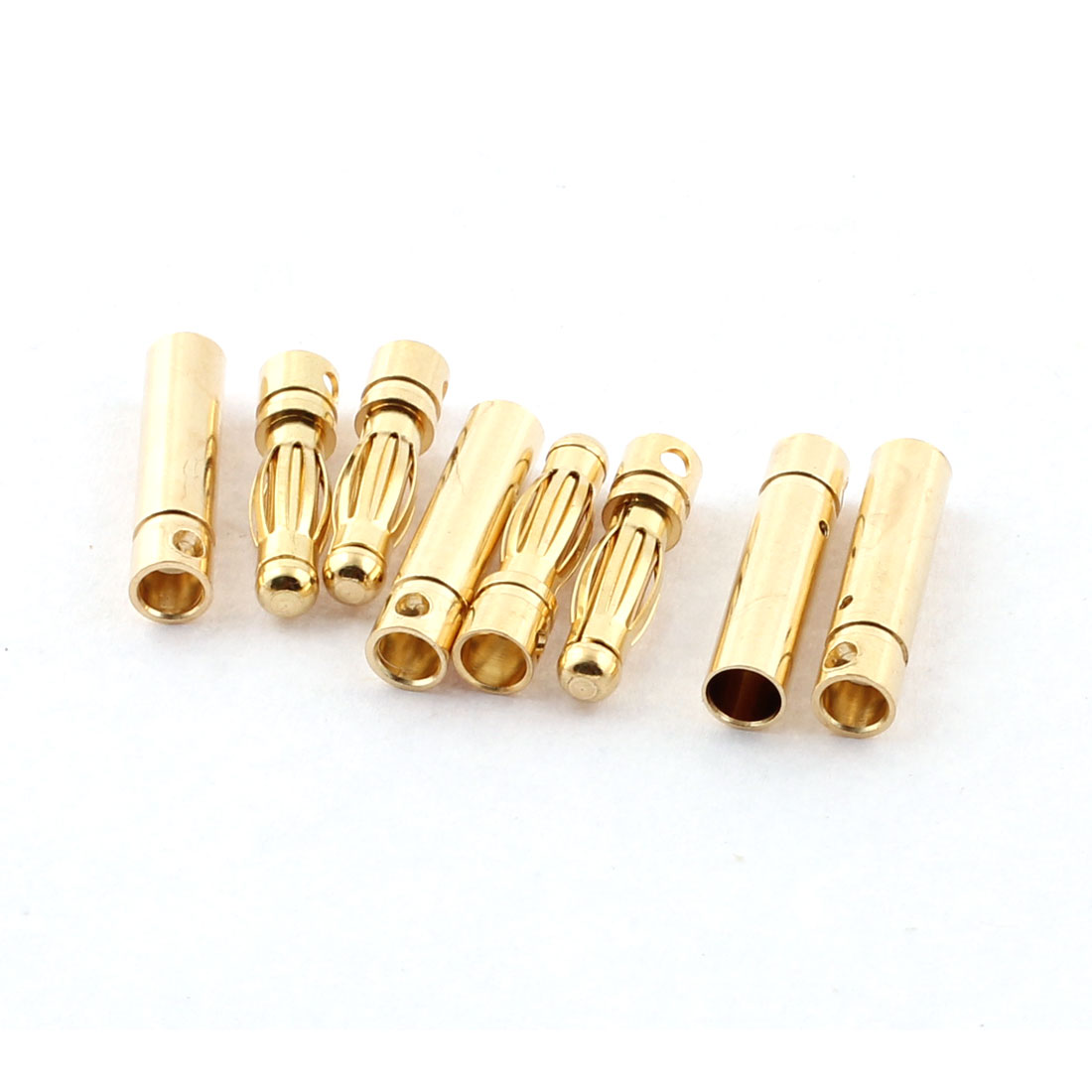 RC Model Battery 4mm Male Female Banana Connector Gold Tone 4 Pairs