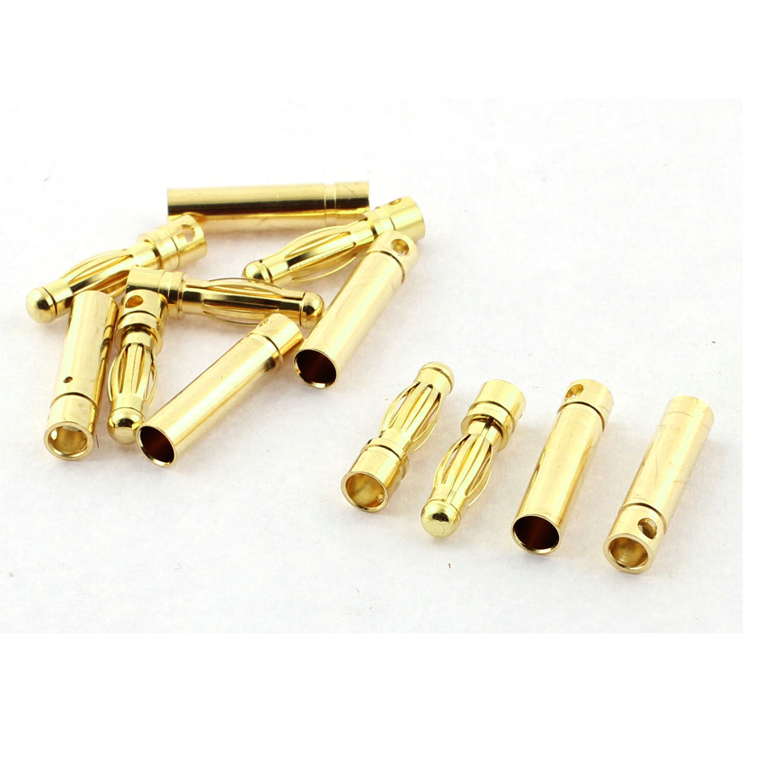 RC Model Battery 4mm Male Female Banana Connector Gold Tone 6 Pairs
