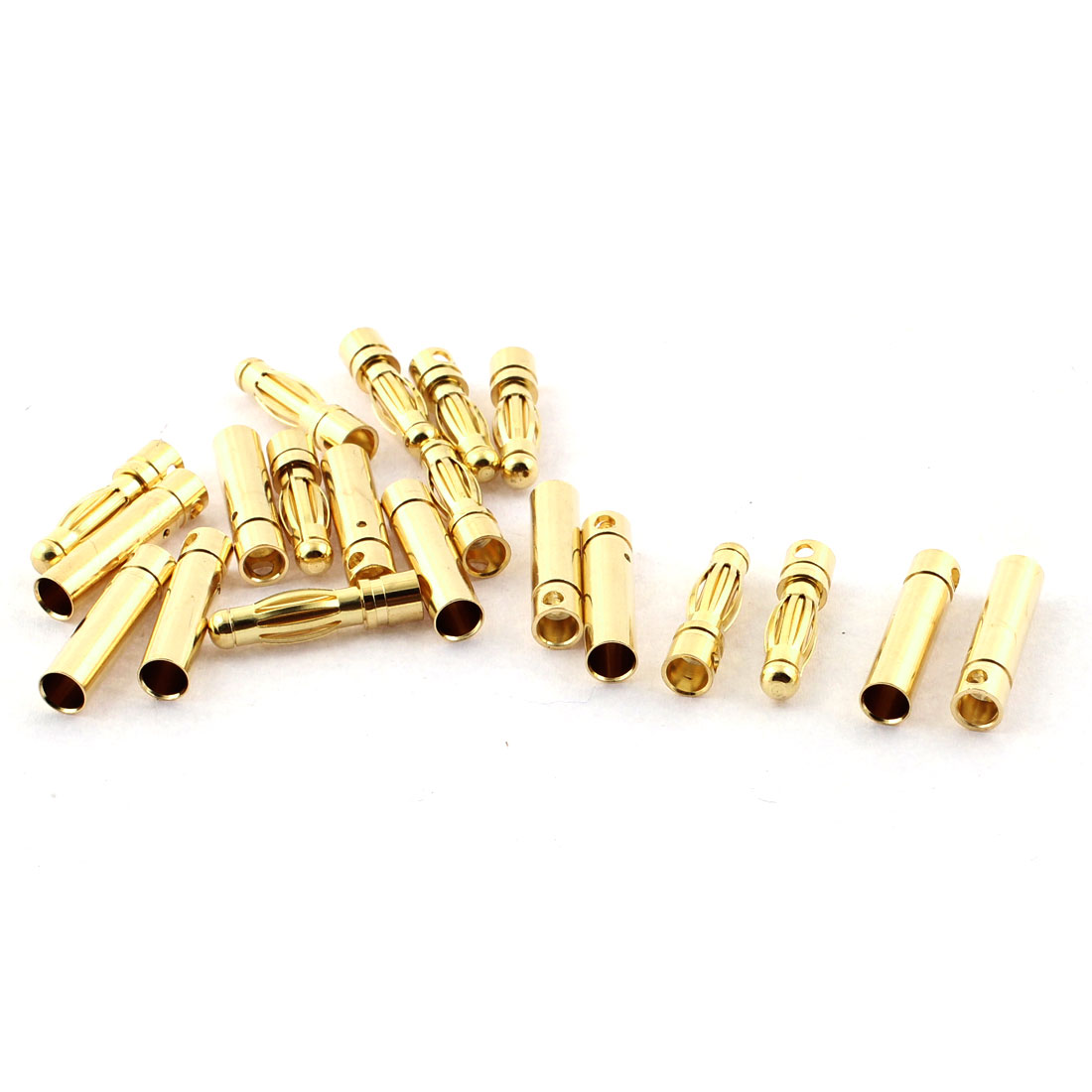 RC Model Battery 4mm Male Female Banana Connector Gold Tone 10 Pairs