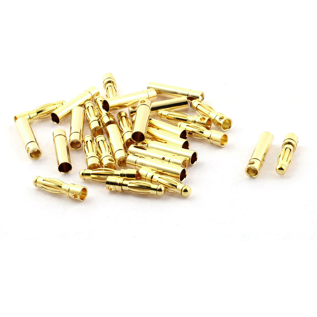 RC Model Battery 4mm Male Female Banana Connector Gold Tone 15 Pairs