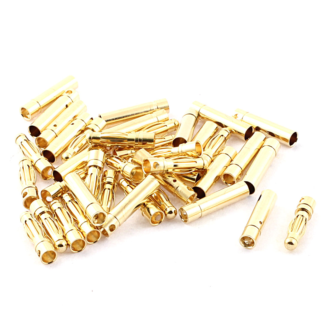 RC Model Battery 4mm Male Female Banana Connector Gold Tone 20 Pairs
