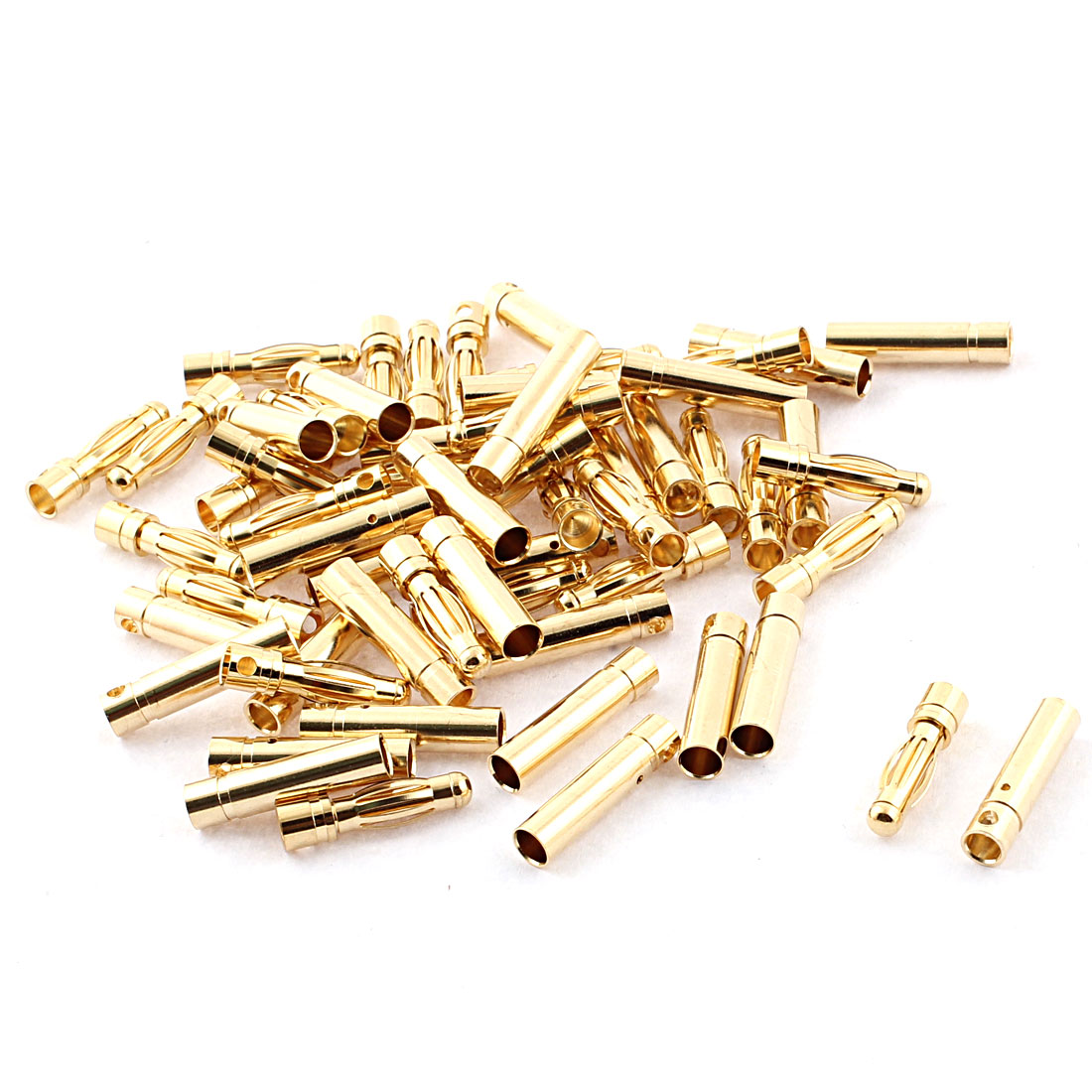 RC Model Battery 4mm Male Female Banana Connector Gold Tone 30 Pairs