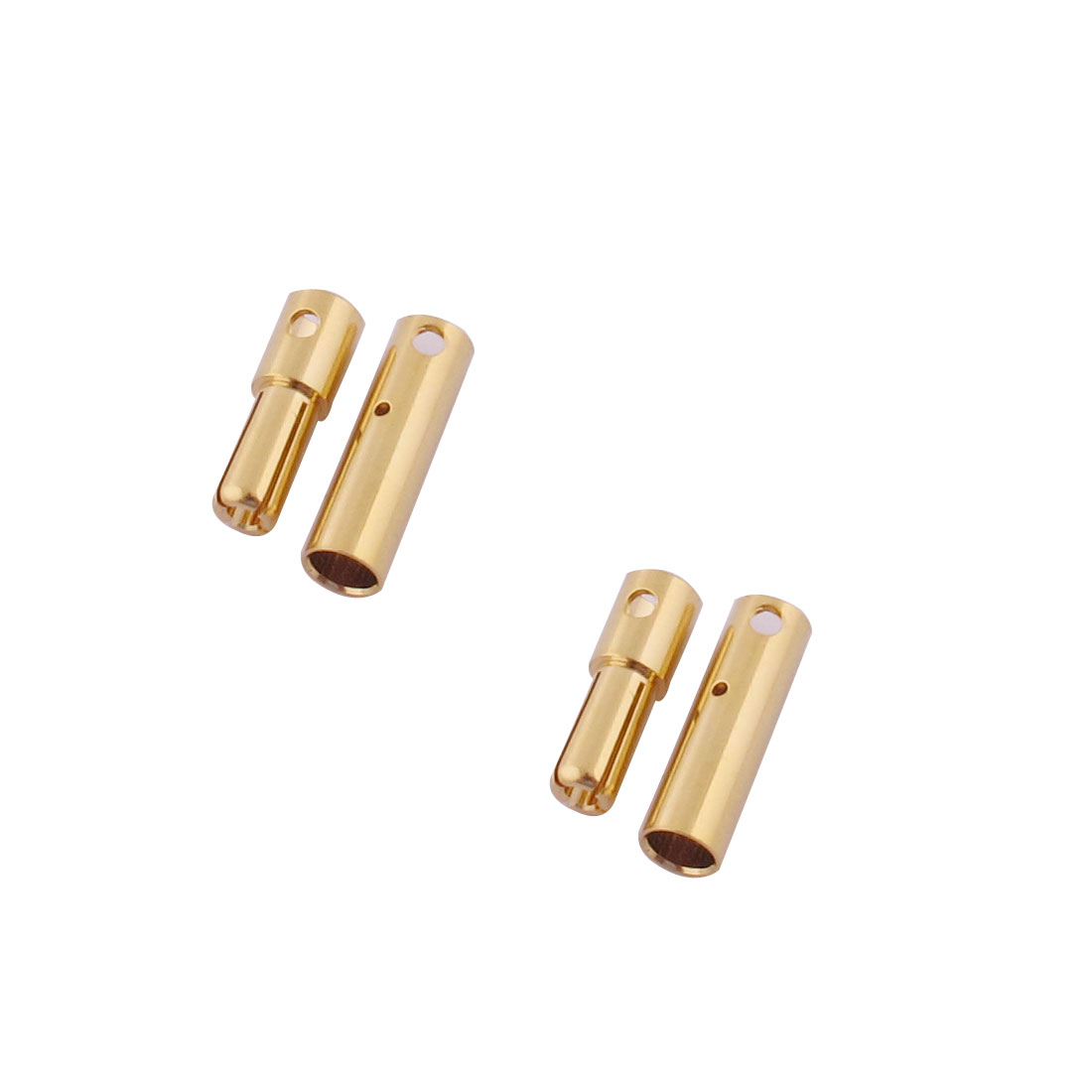 ESC RC LiPo Battery 4mm Male Female Banana Connector Gold Tone 2 Pairs