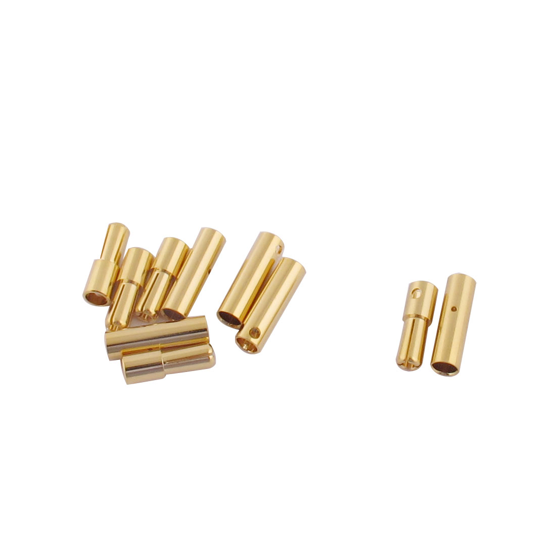 ESC RC LiPo Battery 4mm Male Female Banana Connector Gold Tone 5 Pairs