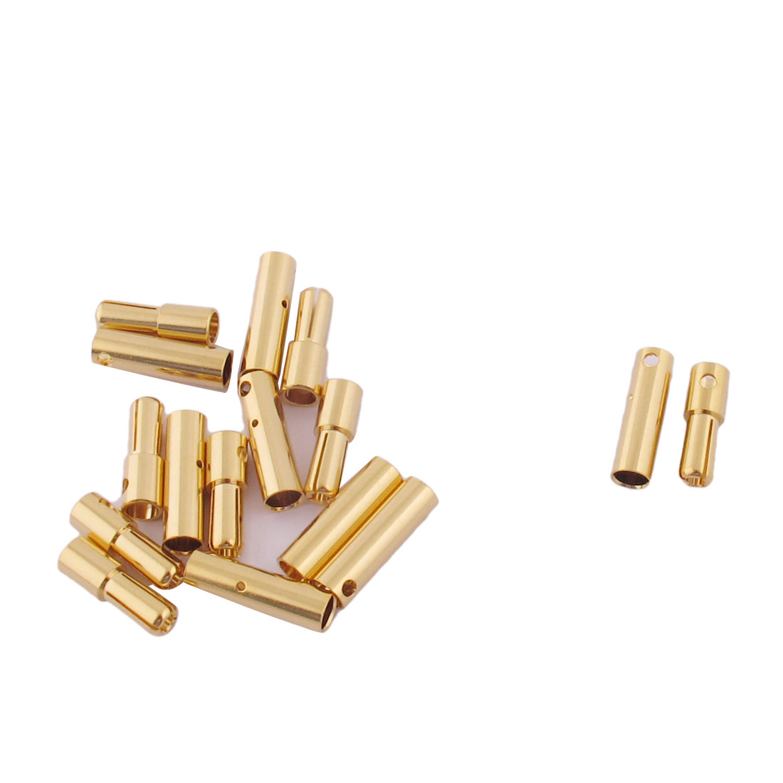 ESC RC LiPo Battery 4mm Male Female Banana Connector Gold Tone 8 Pairs