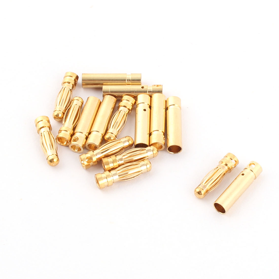 RC Motor ESC Battery 3mm Male Female Banana Connector Gold Tone 8 Pairs
