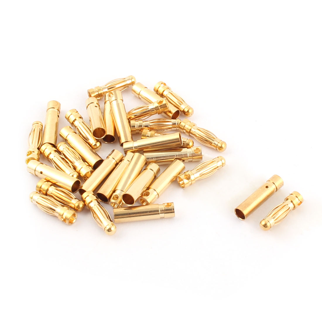 RC Motor ESC Battery 3mm Male Female Banana Connector Gold Tone 15 Pairs