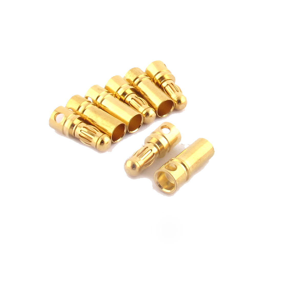RC Motor ESC Battery 3.5mm Male Female Banana Connector Gold Tone 4 Pairs