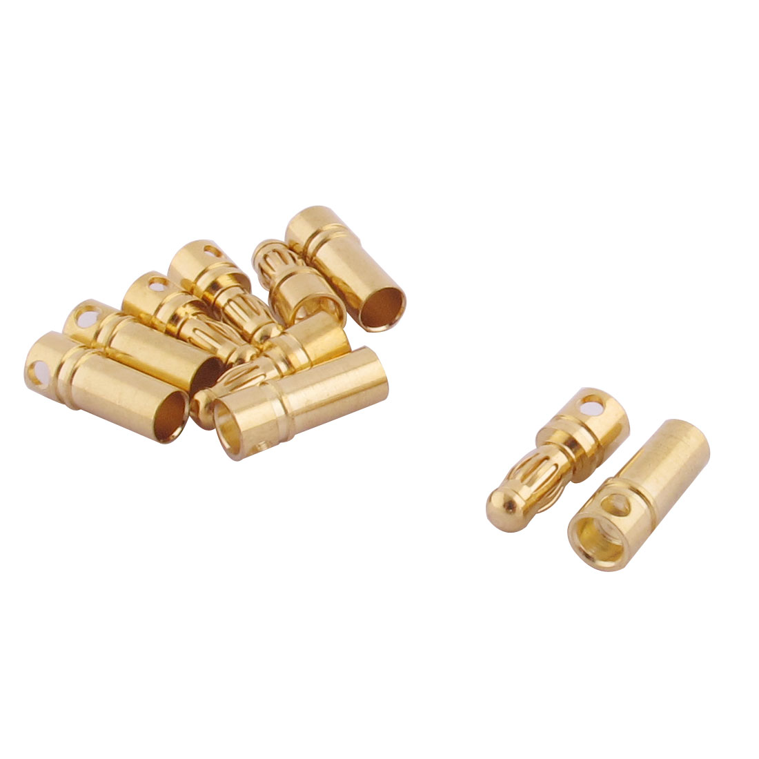 RC Motor ESC Battery 3.5mm Male Female Banana Connector Gold Tone 5 Pairs
