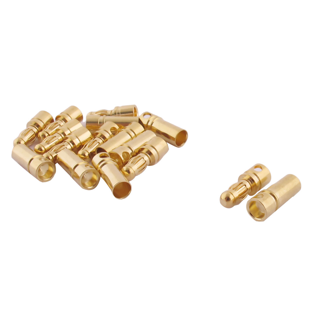 RC Motor ESC Battery 3.5mm Male Female Banana Connector Gold Tone 8 Pairs